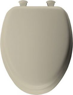 Bemis Mayfair Bone Elongated Soft Padded Toilet Seat, 113EC 006