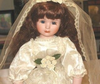 16 Red Headed Porcelain Bride Doll