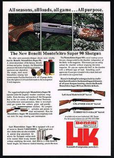1988 HK Benelli Montefeltro Super 90 Shotgun Magazine Print Ad