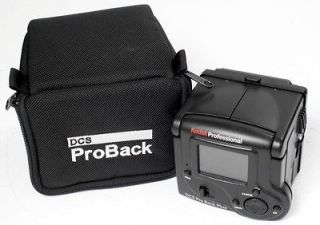 Kodak DCS Pro Back Plus Digital Back  READ