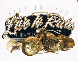 LIVE LIVE TO RIDE MOTORCYCLES Bike Eagle Retro Wild Ride Biker T Shirt