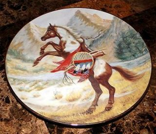 War Ponies Of The Plains Proud Companion Indian Horse Plate