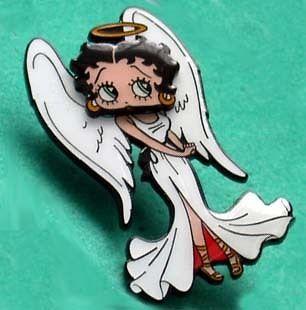 BETTY BOOP ANGEL BOBBLEHEAD PIN CUTE
