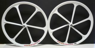 Gear Mag Wheelset 700c Rims Front & Rear Fixie Bike Single Speed White
