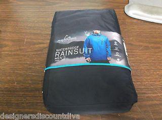 New Paradox Mens Waterproof Rain Suit Jacket & Pants Black MEDIUM