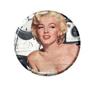 Cute Marilyn Monroe Camera Image PICK Necklace Mirror Button Magnet