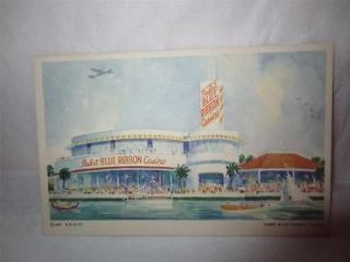1933 Chicago Worlds Fair Pabst Blue Ribbon Casino Postcard Century Of