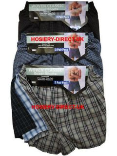 Mens Billy Boxer Shorts Trunks Briefs Cotton Underwear / + Size