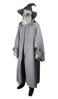 Lord of the Rings Hobbit Gandalf Costume wizard CLOAK adult Robe Grey