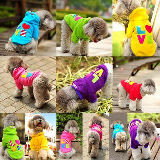 Sweater Hoodie Pet Dog Clothes Puppy Small Coat Autumn Jumpsuit
