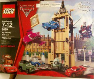 LEGO 8639 DISNEY PIXAR CARS 2 BIG BENTLEY BUST OUT 743 PIECES W