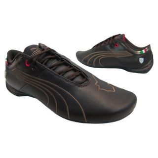 Mens Puma Future Cat M1 Big SF Ferrari Black Coffee Shoes 304039 02