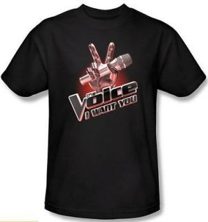 NEW Men Women Youth SIZE The Voice I Want You Logo Title TV Show t
