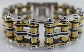 WIDE GENTS COOL HEAVY BIKE CHAIN Stainless Steel Link Bracelet