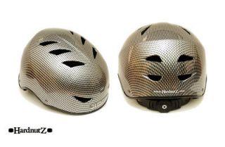 Skate Carbon Fibre Black Scooter/Skateb oard/BMX Bike Pro Stunt Helmet