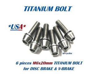 PIECES M6 x 20mm TITANIUM BOLT, SHIMANO DISC BRAKE CALIPERS MTB BIKE