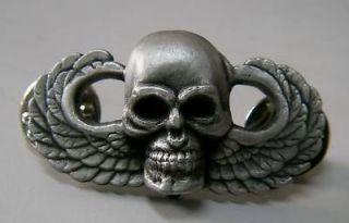 Army Airborne Paratrooper Skull Death Jump 82 101 Division Wing War
