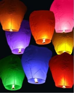 5pcs Sky Chinese Fire Lanterns wish for Party Wedding Birthday Hot 9