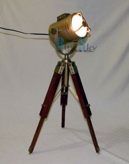 MARITME NAUTICAL SPOT FLOOR LAMP, DESIGNER SEARCH LIGHT WITH TRIPOD