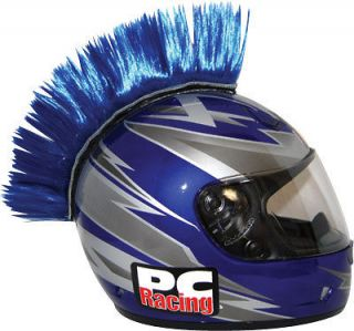MOTORCYCLE ATV DIRT STREET BIKE HELMET MOHAWK BLUE