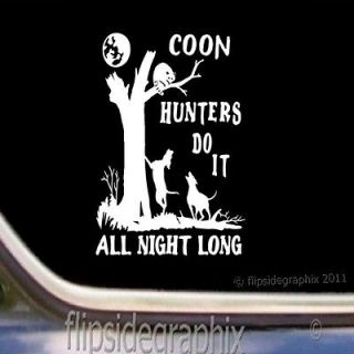 Coon Hunting Coon Dog Scenery Decal Sticker CD 3