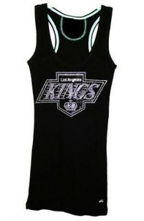 Womens LA Kings Playoffs Bling Sparkle Jersey Old School Chevy Logo or