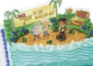 AND THE NEVERLAND PIRATES KIDS BIRTHDAY CAKE DECORATION TOPPER NEW