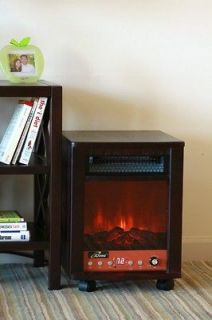 BLACK Electric Portable Fireplace DR INFRARED SPACE HEATER SALE NEW IN