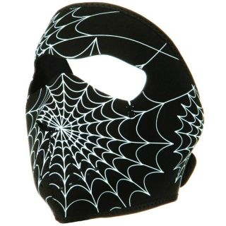 IN THE DARK 2 N 1 Motorcycle Biker Neoprene Face Mask   Spider Web