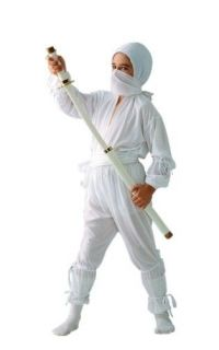 Childs White Ninja Outfit Kids Halloween Costume