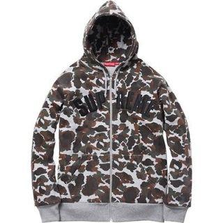 New Supreme 2012 FW Arc Logo stars Thermal box Hoody Jacket Camo XL L