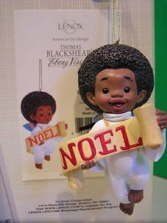 Thomas Blackshear GLAD TIDINGS NOEL CHRISTMAS ANGEL Ornament NEW in