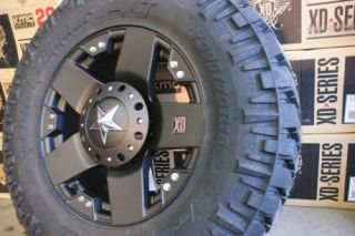 285 65 18 x9 Rockstar Black Rims Wheels Nitto Trail 33