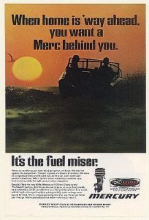 1969 Mercury Outboard Boat Motor Fuel Miser Ad