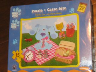 Brand NEW Blues Clues Room Picnic Fun Puzzle Tickety age 3 7yrs 15