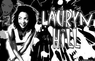 Lauryn Hill Black Light Poster