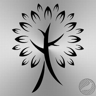 Chinese Cherry Blossom Tree vinyl decal sticker   11.4 x 14 0021
