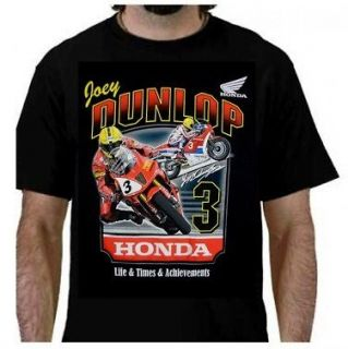 SHIRT Bike Honda Joey Dunlop Life Times Achievements Isle of Man TT