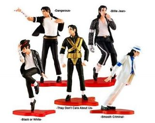 of 5 pcs Figure Box Set Michael Jackson Dolls Billie Jean New In Box