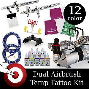 airbrush tattoo kit in Tattoos & Body Art