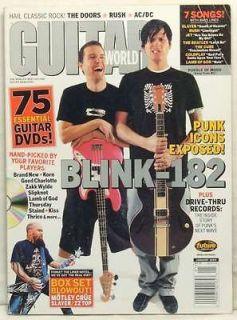GUITAR WORLD MAGAZINE BLINK 182 MARK HOPPUS TOM DELONGE THE DOORS RUSH