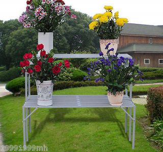 Plant Stands Flower Flowerpot Seeds Shelf Support Garden Outdoor 07