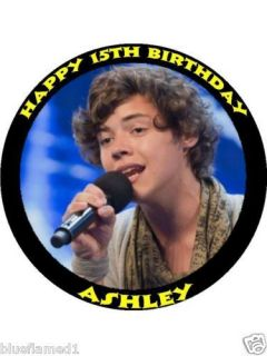 Harry Styles One Direction 7.5 Rice Paper Cake Topper