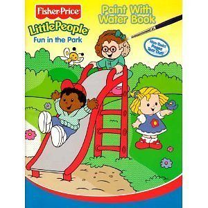 NEW Fisher Price Little People Paint with Water Book   Fun In the Park