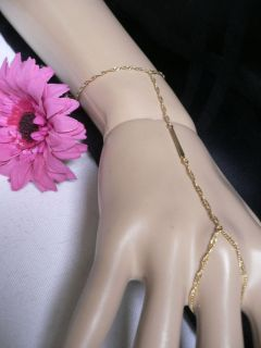 GOLD METAL HAND CHAINS 2012 TREND FASHION BRACELET 1 FINGER SLAVE RING