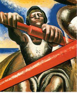 Repo DAVID ALFARO SIQUEIROS, Rowing, El Botero, Mexican Muralist