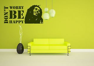 Bob Marley Signer Musician Be Happy One Love Premium Wall Decor Decal