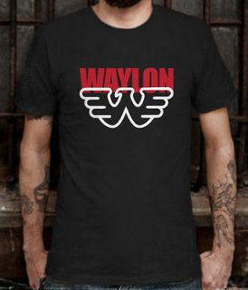 New Waylon Jennings Country Blues Music Singer T shirt Tee Size L (S