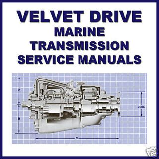 Drive Marine & Boat borg warner Transmission SERVICE Repair MANUAL CD