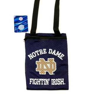 NCAA UNIVERSITY OF NOTRE DAME Game Day Pouch / Mini Purse NWT